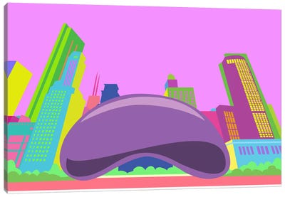 The Bean Pop Art (Chicago) Canvas Art Print