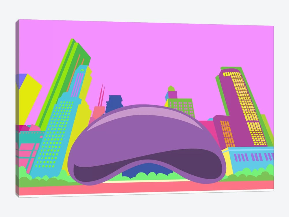 The Bean Pop Art (Chicago) by iCanvas 1-piece Canvas Art