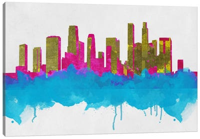 Goldleaf Watercolor Cityscape Canvas Art Print