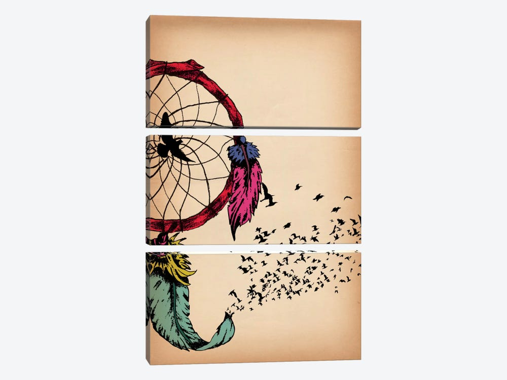 Dreamcatcher by Unknown Artist 3-piece Canvas Wall Art