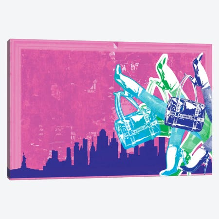 New York Fashion Pop Art Canvas Print #ICA279} by Unknown Artist Art Print