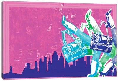 New York Fashion Pop Art Canvas Print #ICA279