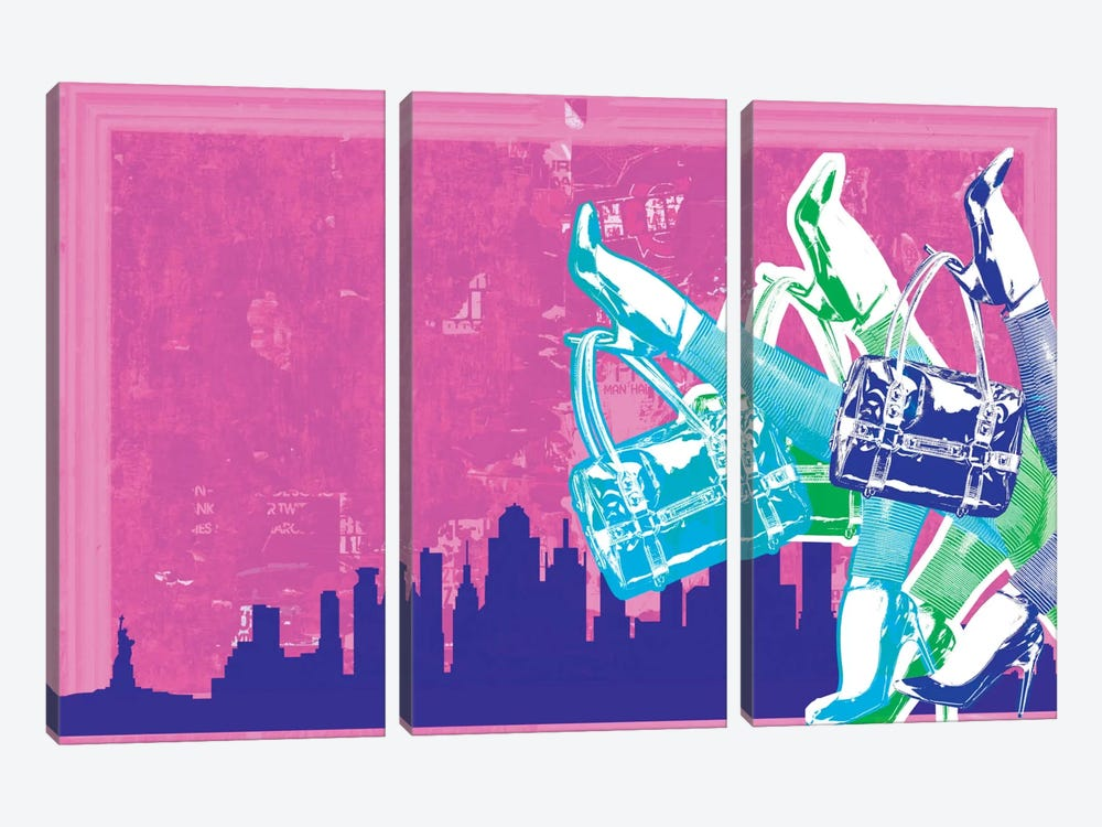 New York Fashion Pop Art 3-piece Art Print