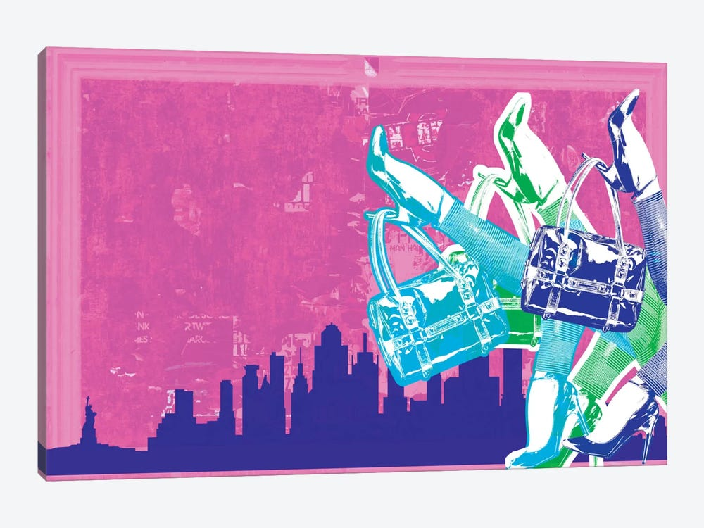 New York Fashion Pop Art by Unknown Artist 1-piece Canvas Art Print