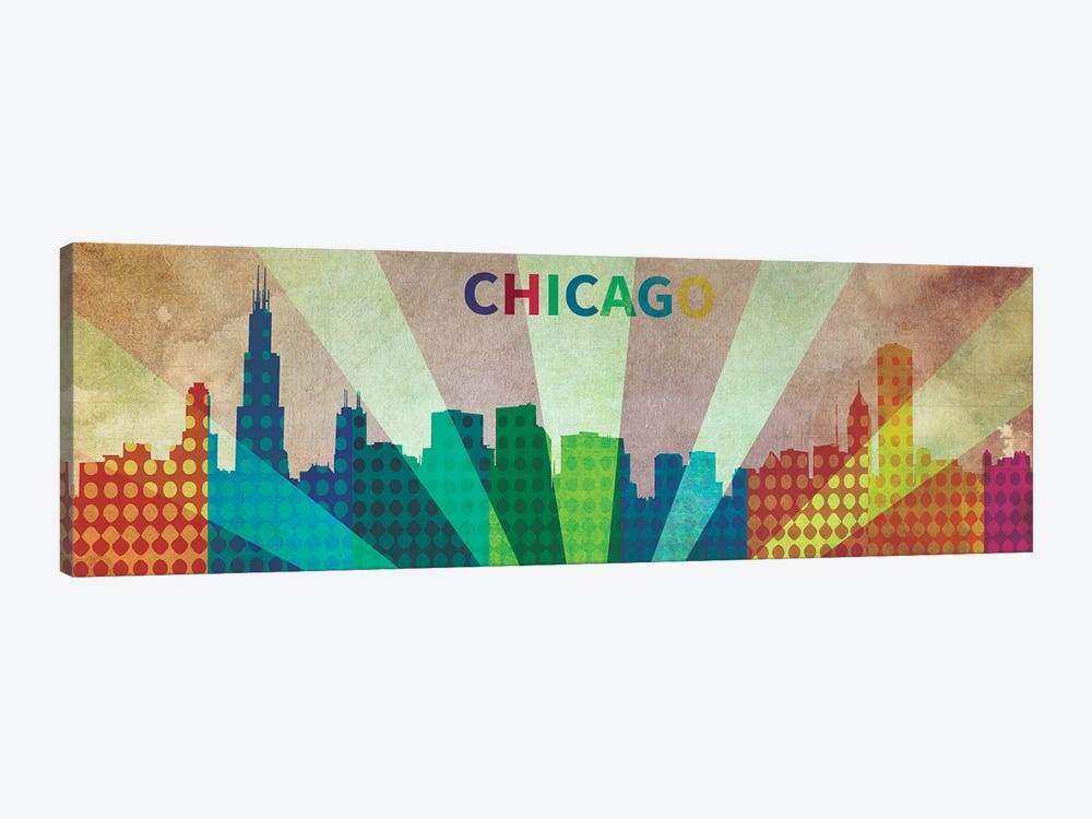 Chi City by iCanvas 1-piece Canvas Print