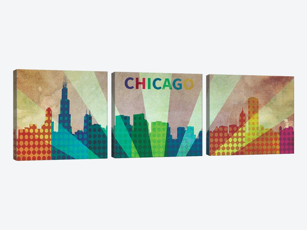 Chi City by iCanvas 3-piece Canvas Art Print