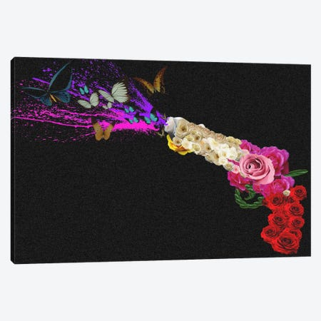 Rose Revolver Canvas Print #ICA284} by Unknown Artist Canvas Art Print