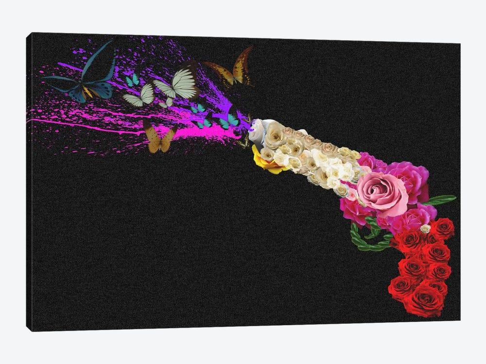 Rose Revolver by Unknown Artist 1-piece Canvas Print