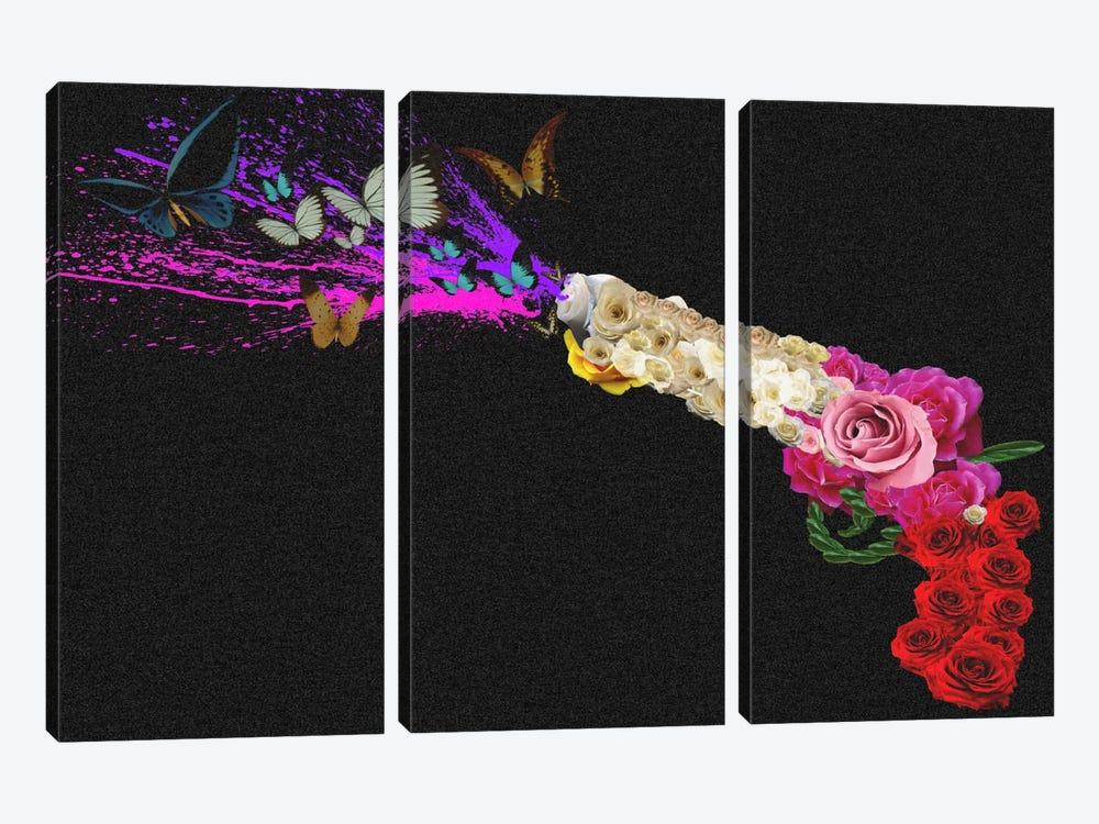 Rose Revolver by Unknown Artist 3-piece Canvas Art Print