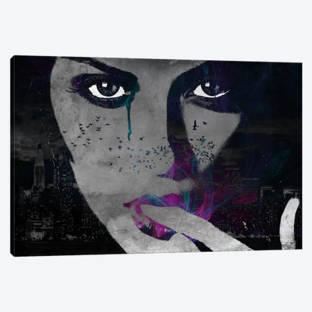 Lady of the Night Canvas Print #ICA289} by Unknown Artist Canvas Artwork