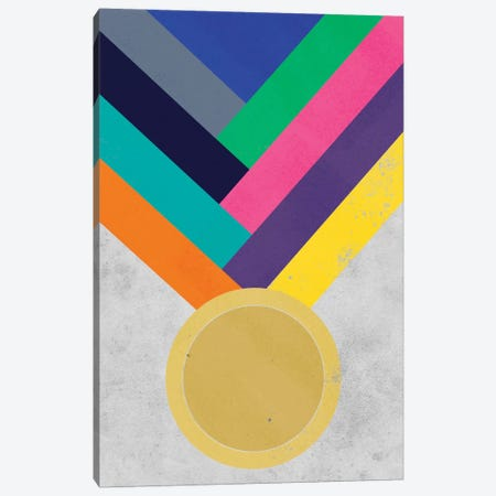 Gold Medal Canvas Print #ICA293} by iCanvas Canvas Art Print