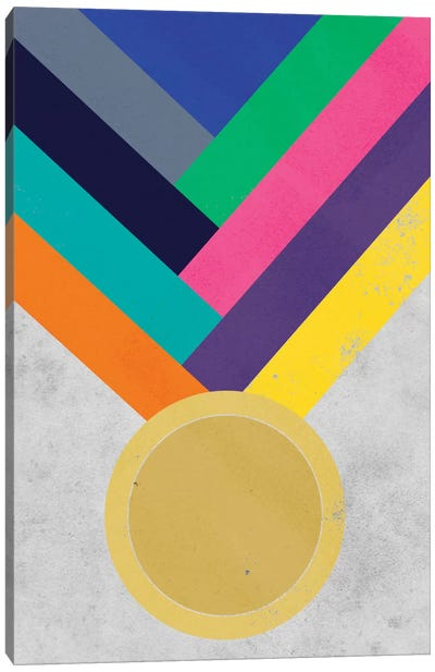 Gold Medal Canvas Print #ICA293