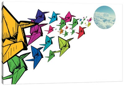 Origami Swans Canvas Print #ICA295