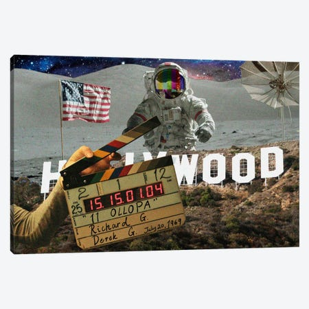 Man on the Moon Canvas Print #ICA298} by Unknown Artist Canvas Print