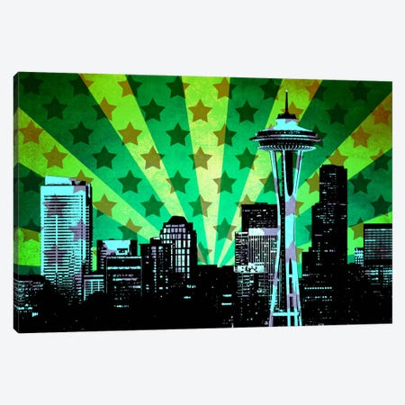 All American Seattle Canvas Print #ICA29} by Unknown Artist Art Print
