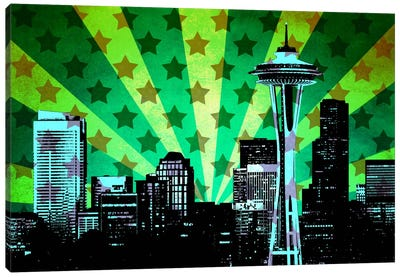 All American Seattle Canvas Print #ICA29