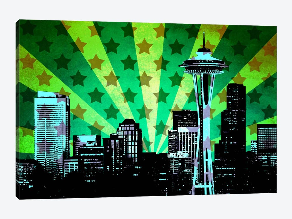 All American Seattle by iCanvas 1-piece Art Print