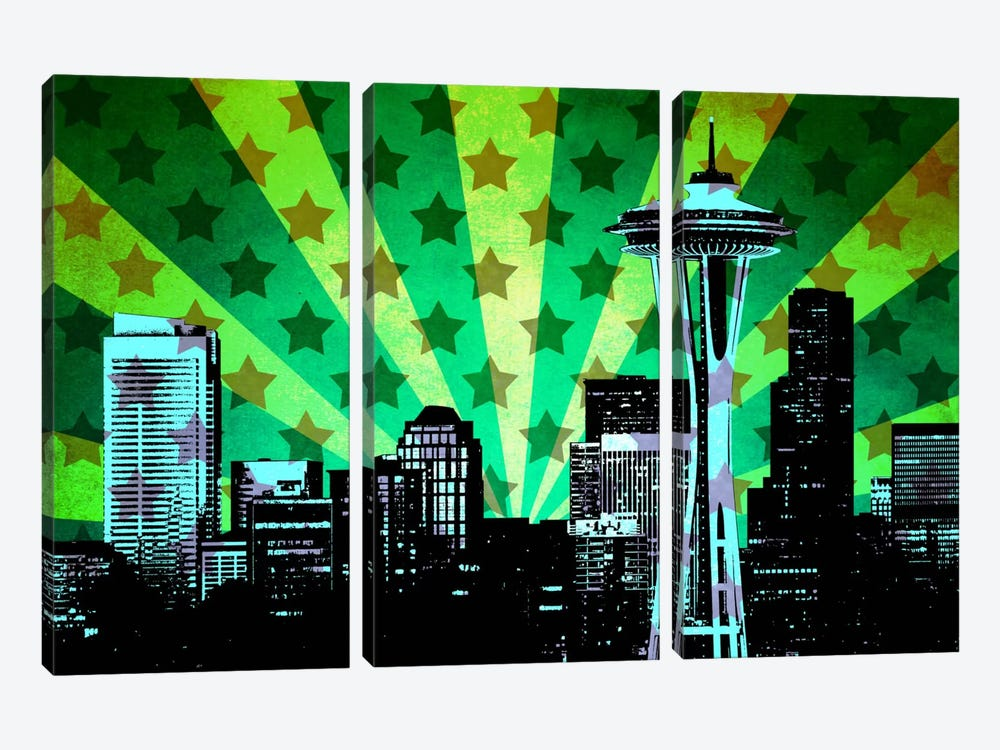 All American Seattle 3-piece Canvas Art Print