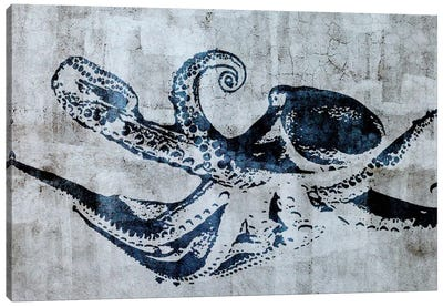 Stencil Street Art Octopus Canvas Art Print