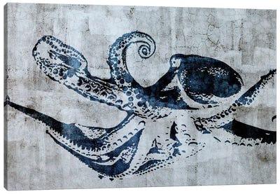 Stencil Street Art Octopus Canvas Print #ICA303
