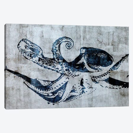 Stencil Street Art Octopus Canvas Print #ICA303} by 5by5collective Canvas Print
