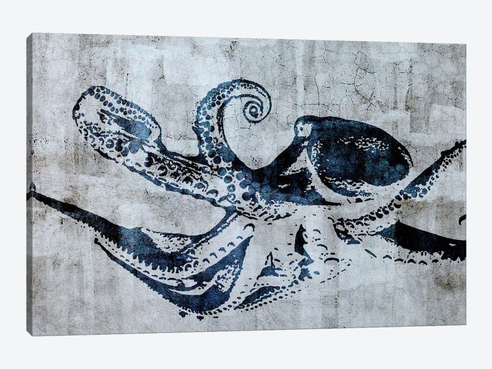 Stencil Street Art Octopus by 5by5collective 1-piece Art Print