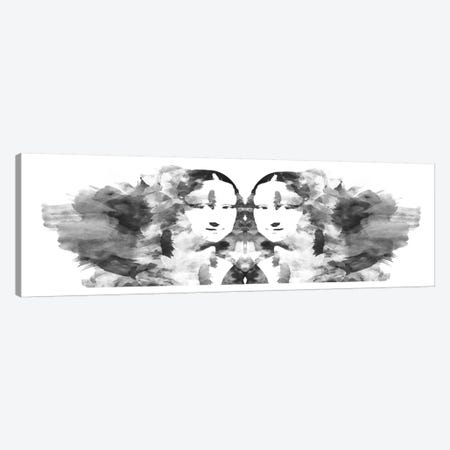 Rorschach Mona Lisa Canvas Print #ICA305} by Unknown Artist Canvas Artwork