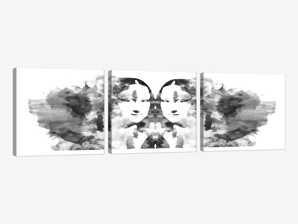 Rorschach Mona Lisa by Unknown Artist 3-piece Art Print