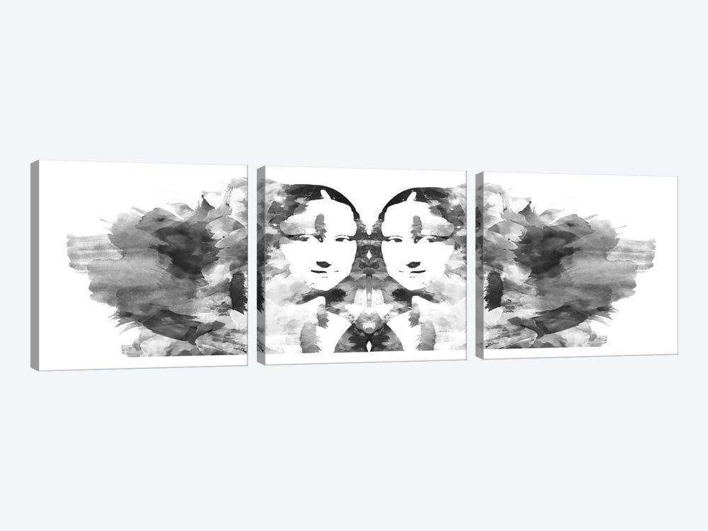 Rorschach Mona Lisa by Unknown Artist 3-piece Art Print