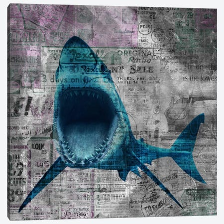 Shark Sale Canvas Print #ICA306} by Unknown Artist Canvas Art