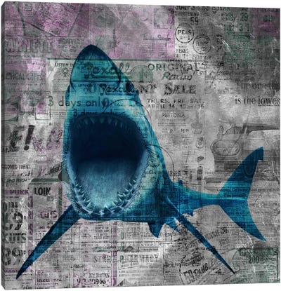 Shark Sale Canvas Art Print