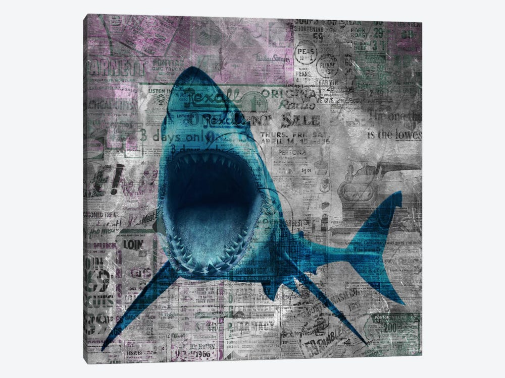 Shark Sale by iCanvas 1-piece Canvas Art