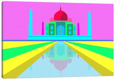 Neon Taj Mahal Canvas Print #ICA311