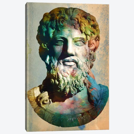 Zues Head Bust Canvas Print #ICA320} by Unknown Artist Canvas Print