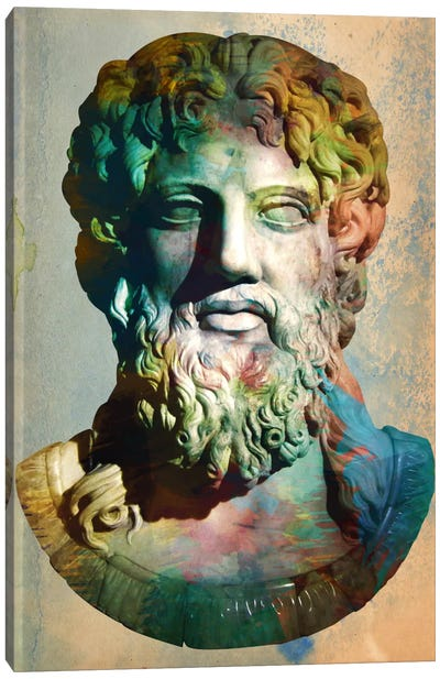 Zues Head Bust Canvas Print #ICA320