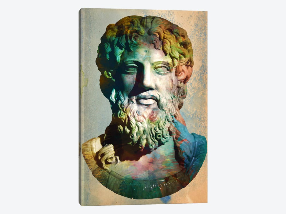 Zues Head Bust by Unknown Artist 1-piece Canvas Art