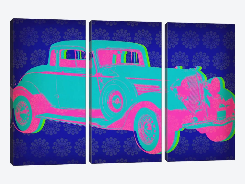 Vintage Car Pop Art by iCanvas 3-piece Canvas Art