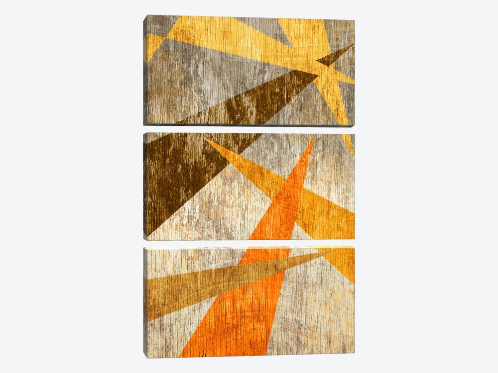 Woodgrain Prism by iCanvas 3-piece Canvas Print