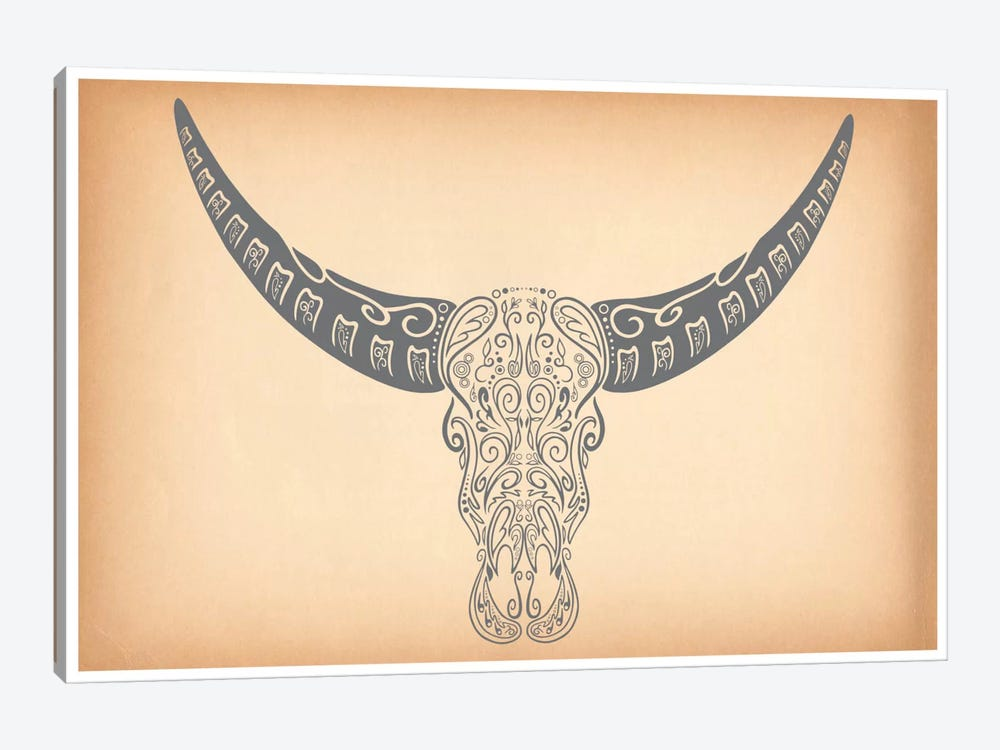 Longhorn Sugar Skull by iCanvas 1-piece Canvas Art Print