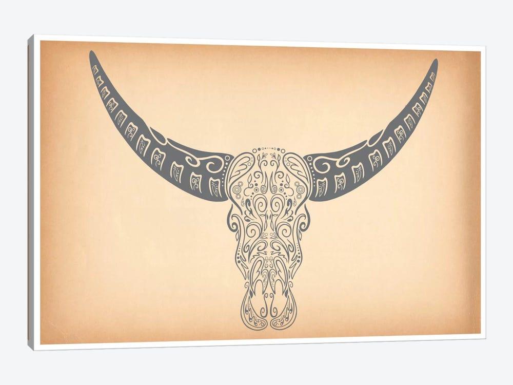 Longhorn Sugar Skull by Unknown Artist 1-piece Canvas Art Print