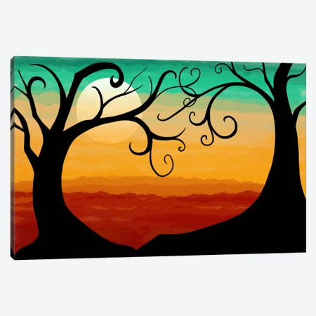 Burning Sunset Canvas Print #ICA344} by Unknown Artist Canvas Wall Art
