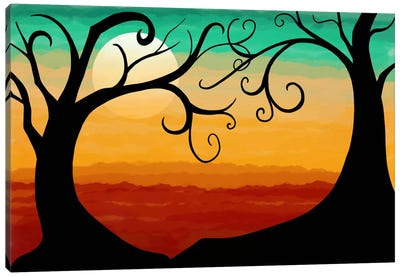 Burning Sunset Canvas Print #ICA344