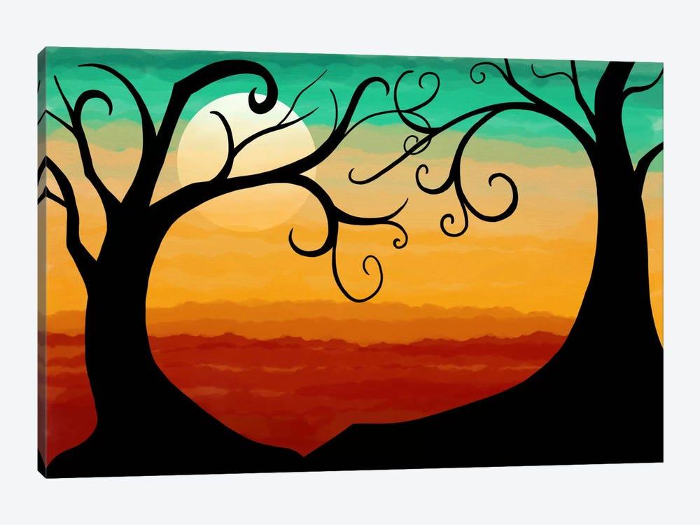 Burning Sunset by Unknown Artist 1-piece Canvas Artwork