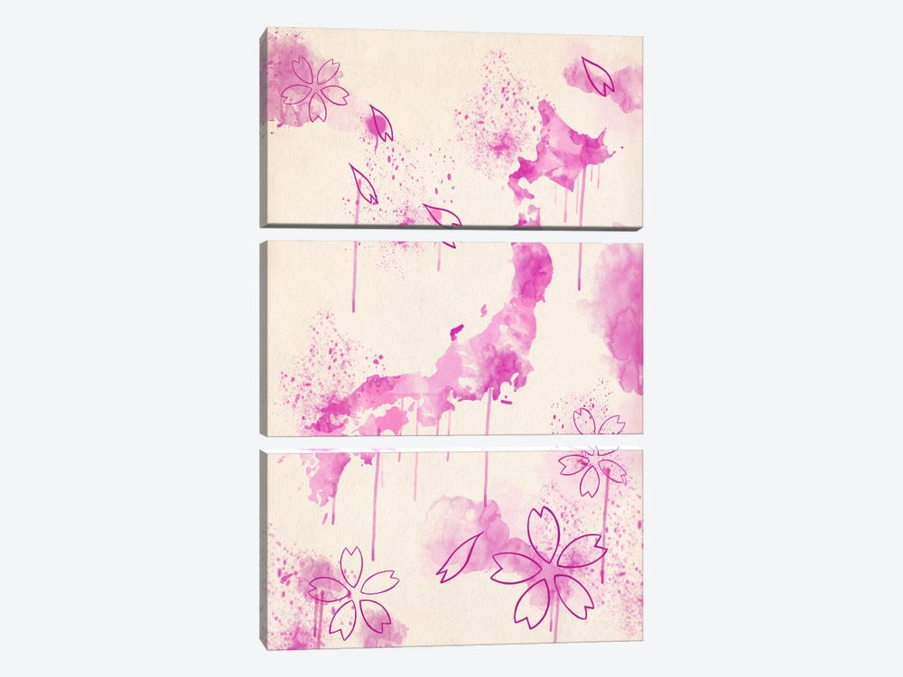 Japan Blossoms by iCanvas 3-piece Canvas Wall Art