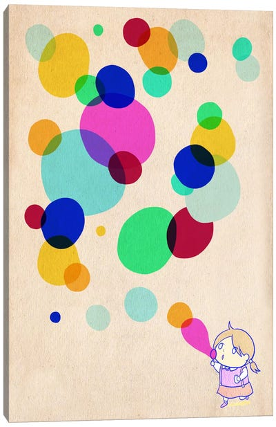 Color Bubble Canvas Art Print