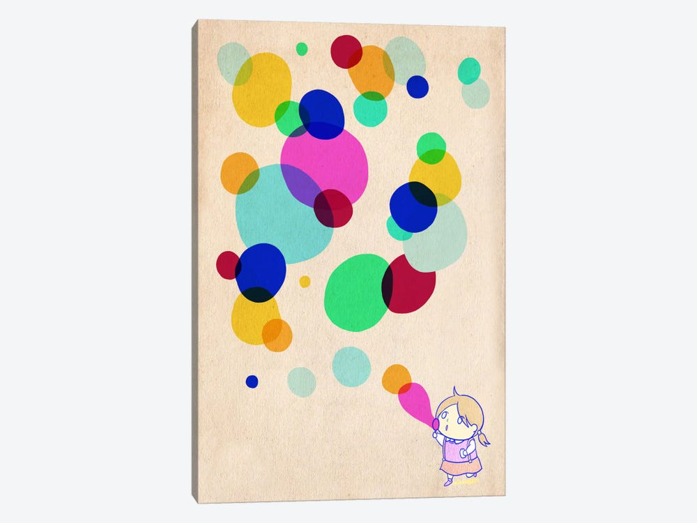 Color Bubble by iCanvas 1-piece Canvas Art