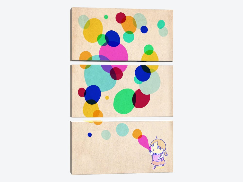 Color Bubble by iCanvas 3-piece Canvas Art