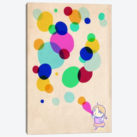 Color Bubble Canvas Print #ICA355} by Unknown Artist Art Print