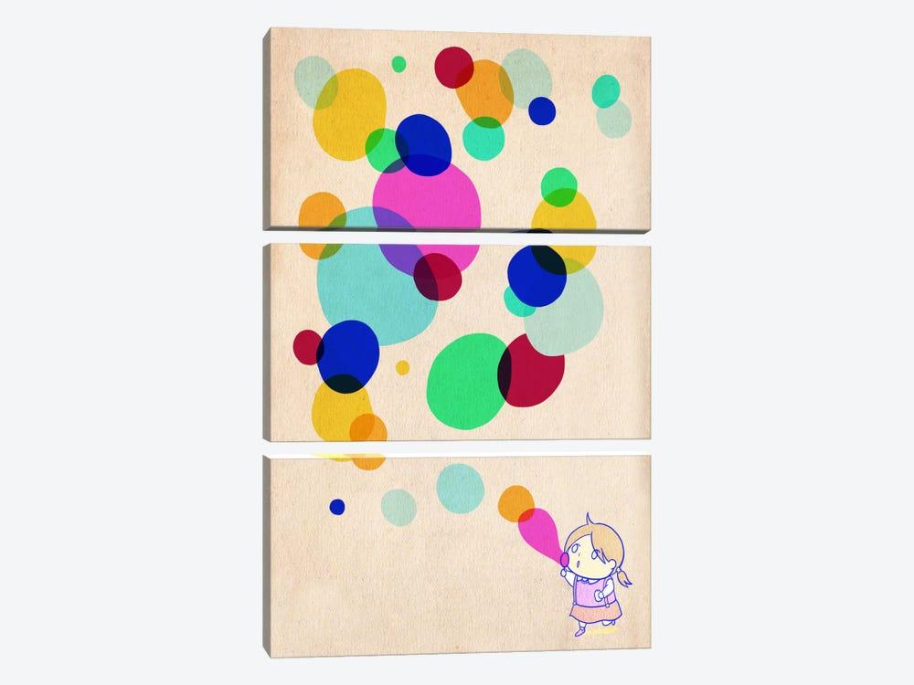 Color Bubble by Unknown Artist 3-piece Canvas Art