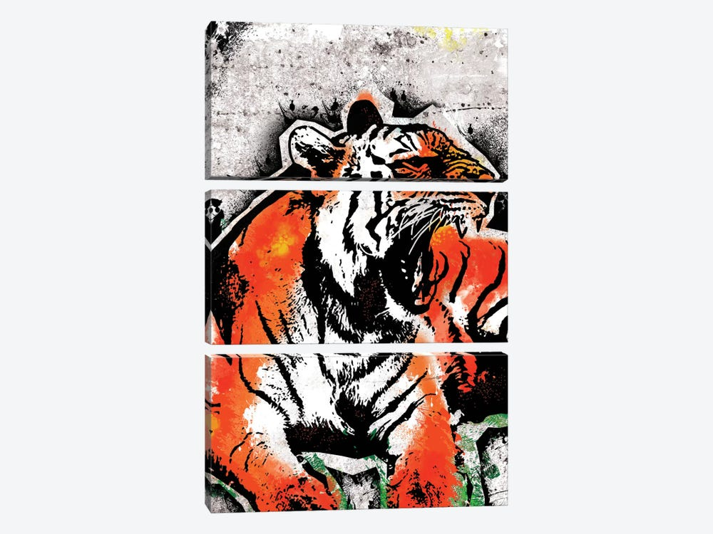 Jungle Beast by 5by5collective 3-piece Canvas Artwork